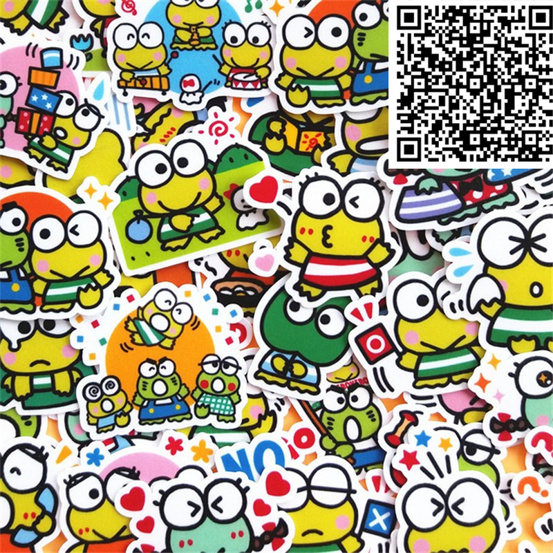 40 Pcs Mini Frog Stickers For  Notebook Planner Cute Cartoon Decorative Style Toy Sticker Scrapbooking For Laptop Children