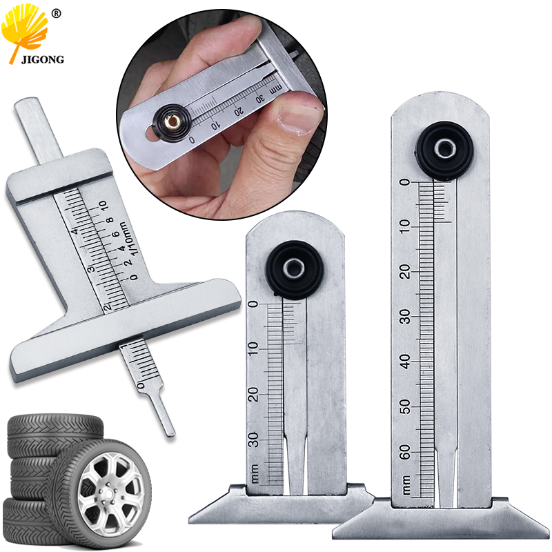 Tire Tread Depth Gauge Tire Gauge Meter Measurer Tread Checker Tire Tester Black