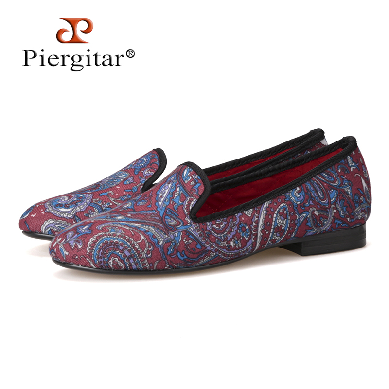 Piergitar fabric printed traditional hand-drawn design  women loafers women casual and party shoes Fashion Slip-on woman flats Piergitar fabric printed traditional hand-drawn design  women loafers women casual and party shoes Fashion Slip-on woman flats