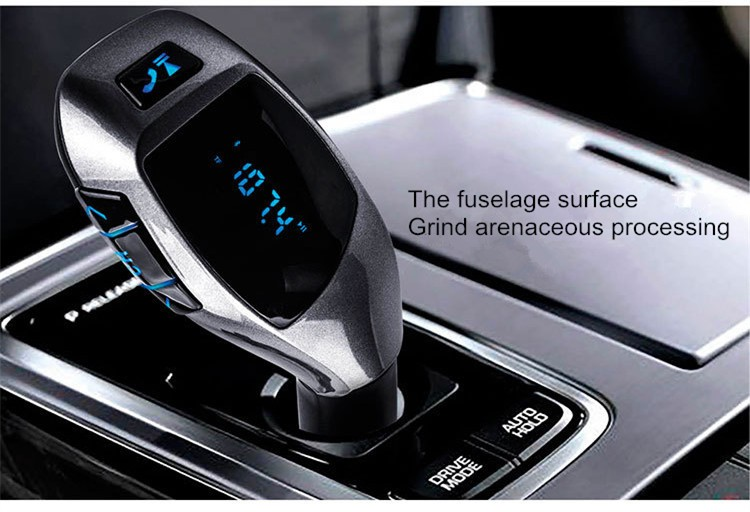2016 X5 Bluetooth Handsfree FM Transmitter Car Kit MP3 Music Player Radio Adapter Work with TF Card U Disk For Smartphone (13)