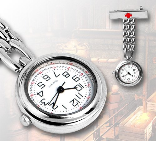 Dames Small Red Cross Classic Fibula Nurse Quartz zakhorloge