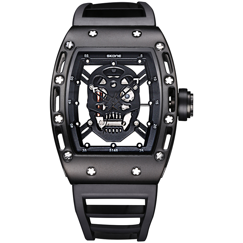 2019 new brand fashion trend sports ghost head stainless steel waterproof men and women models multi-function quartz watch2019 new brand fashion trend sports ghost head stainless steel waterproof men and women models multi-function quartz watch