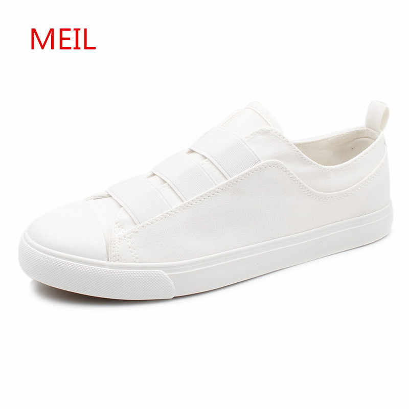 bd7f607ca7 2018 Men Casual Shoes Man Breathable Sneakers Loafers Fashion Summer Slip  On Black White Shoes Men