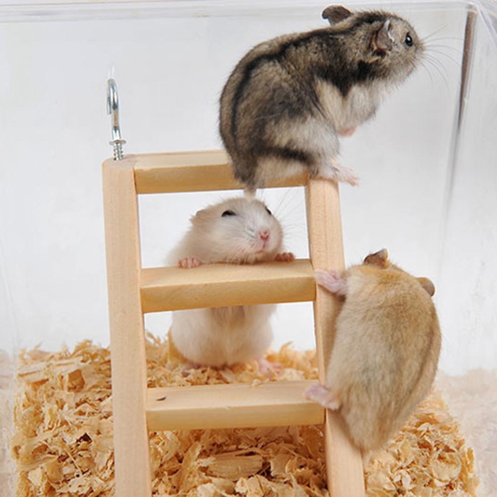 45 Creative Wooden font b Pet b font Climbing Toy Anti slip Ladder with Hooks Hamster
