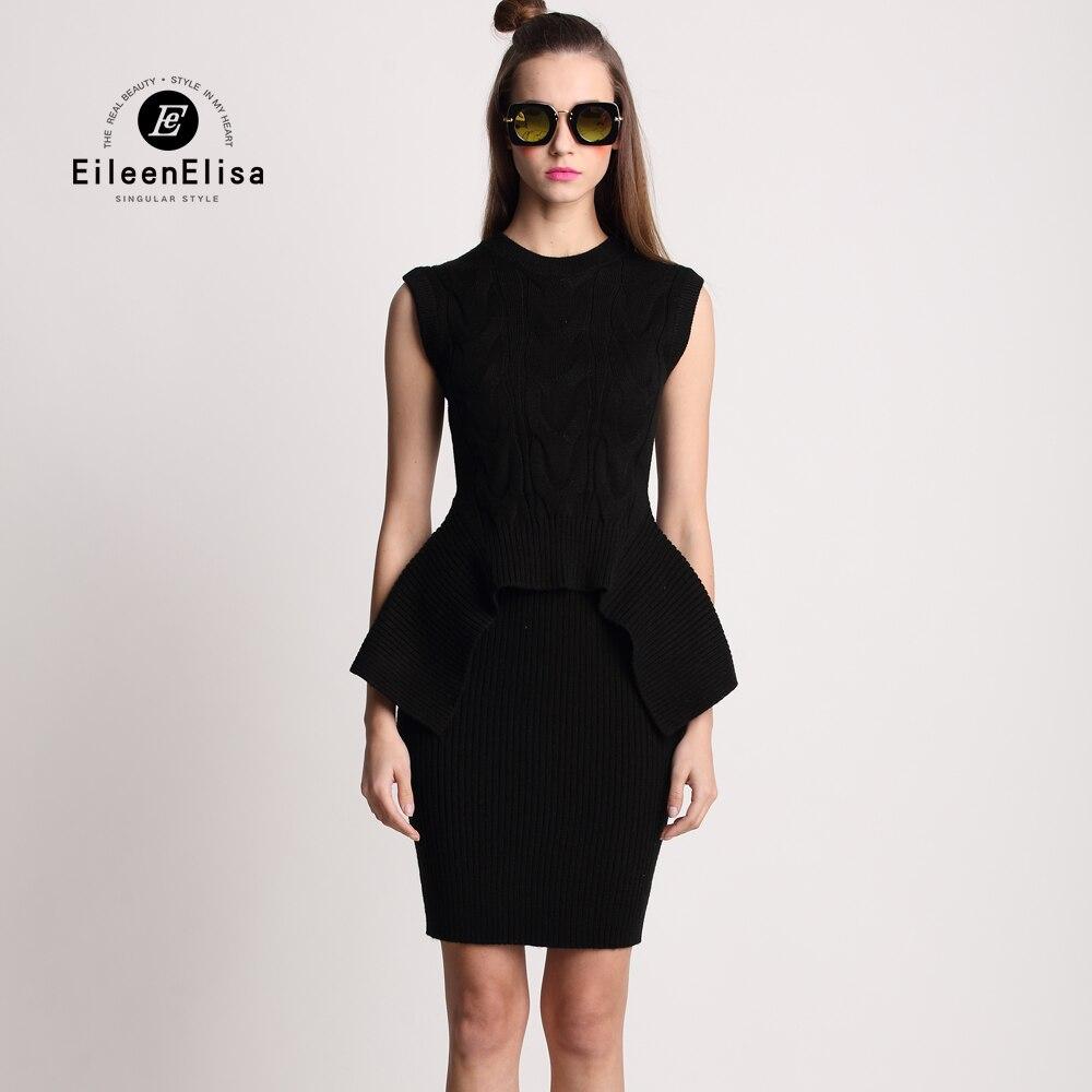 Elegant Dress font b Women b font 2016 Winter 2 Pieces font b Sweater b font