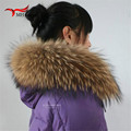 Scarves for Women Real Raccoon Fur Scarf Women 100% Natural Raccoon Fur Collar Shawl Winter Warm Fur Collar Scarves L#11