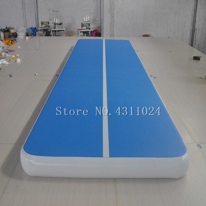 Livraison gratuite 6x2x0.2 m tapis de gymnastique gonflable piste d'air tapis de Tumbling gonflable piste de gymnastique pour l'entraînement avec une pompe