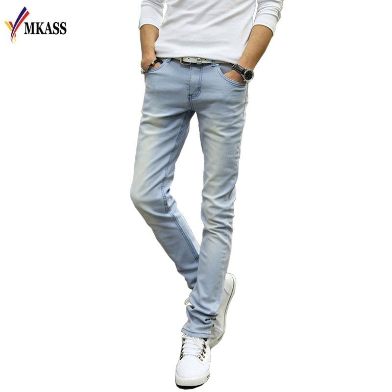 Hot Sale Men Jeans Pencil Pants Stretch Jeans Men Brand Casual Slim Fit Pants Skinny Boys Male Denim Biker Man fashion mens skinny jeans men denim pants light blue solid casual male trousers 2017 brand clothing slim fit pencil jeans pant