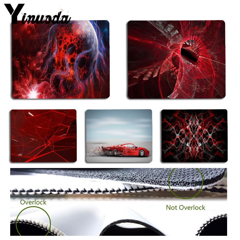 Yinuoda Space Art Abstract Design Red Planet Car Pad to Mouse Game Size for 180x220x2mm and 250x290x2mm Small Mousepad image