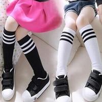 Baby Girl Stockings Toddlers Kids Football Cotton Stripes School Socks Baby High Knee Socks For Kids