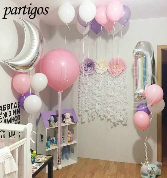21pcs Lot 40inch Slim Number 1 Year Old Birthday Party Decor Supplies 36