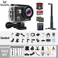 Original SnowHu H10 Sport Camera Ultra HD 4K 25fps WiFi 2 0 170D Underwater Waterproof Helmet