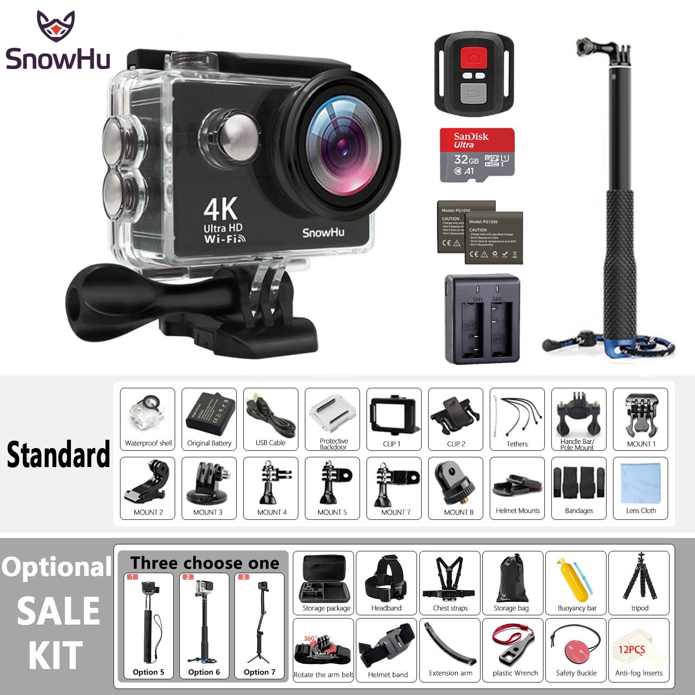 Caméra Sport originale SnowHu H10 Ultra HD 4 K/25fps WiFi 2.0