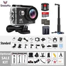 Original SnowHu H10 Sport Camera Ultra HD 4K / 25fps WiFi 2.0″ 170D underwater waterproof Helmet Cam camera Action cam H10R