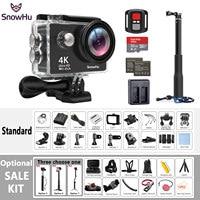 Original SnowHu H10 Sport Camera Ultra HD 4K / 25fps WiFi 2.0 170D underwater waterproof Helmet Cam camera Action cam H10R