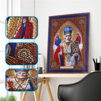 5d Diy Forma especial icono en pintura de diamante de líder diamante verdadero religioso hombres diamante bordado rhinestones punto de cruz