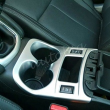 цена на Matt Chrome Interior Water Cup Holder Trim Cover FOR 2014 2015 Nissan Qashqai MT J11