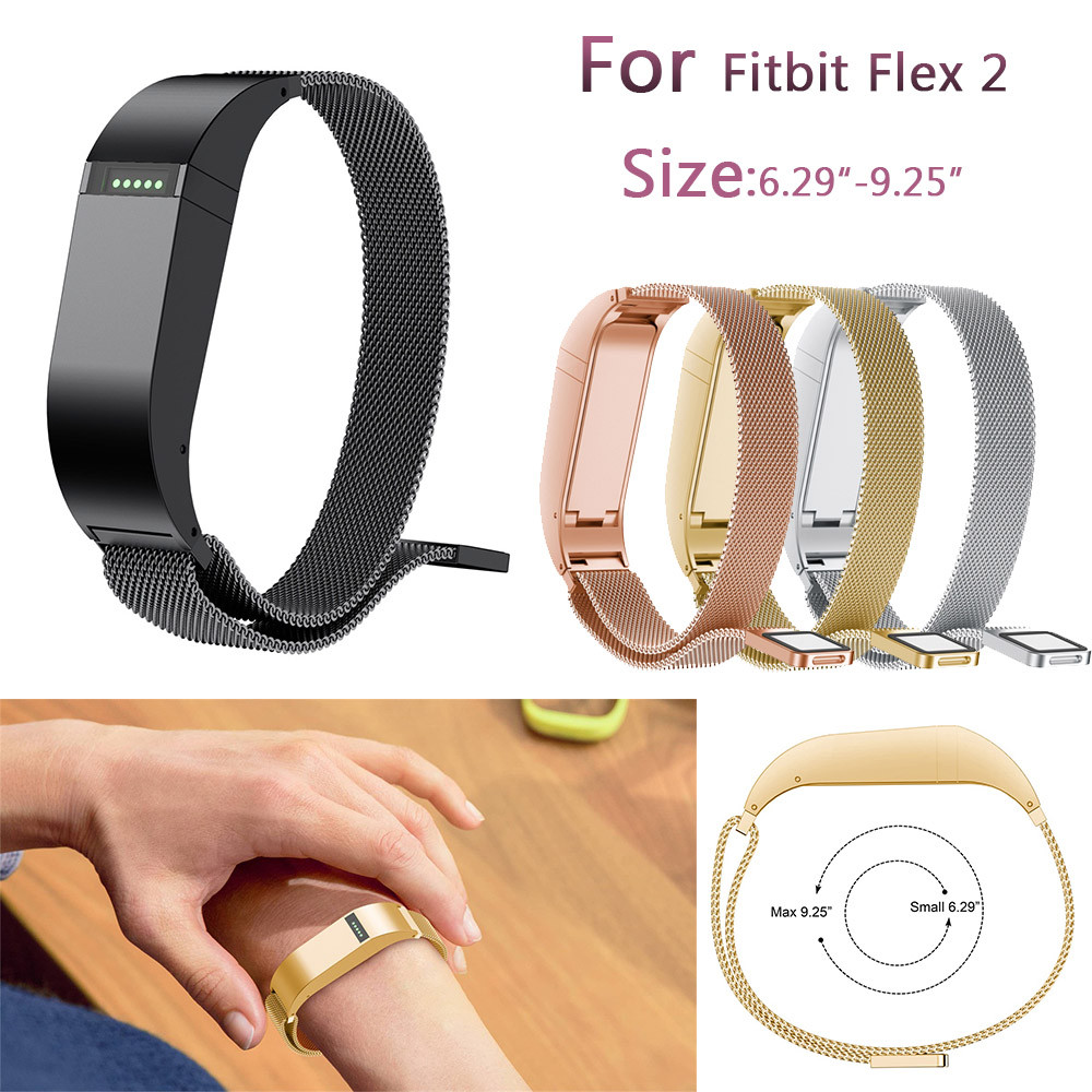 Watch band For Fitbit Flex 2 Milanese Magnetic Loop Stainless Steel Smart Watch Band For Fitbit Flex 2 (6.29-9.25inches) M.15
