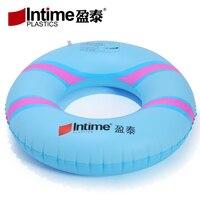 Intime טבעת שחייה מתנפחת, מעגל בית השחי תינוק, טבעת צף לילדים, למבוגרים לשחות מעגל צבע אקראי