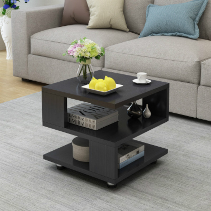 Simple Sofa Side Coffee Table Tempered Glass Mini Tea