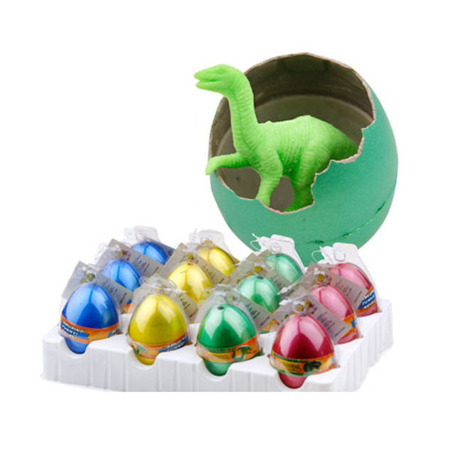 12pcs/set Dinosaur egg toys for children boys finger toy baby creative grow up dinosaur incubate hatch  L210004
