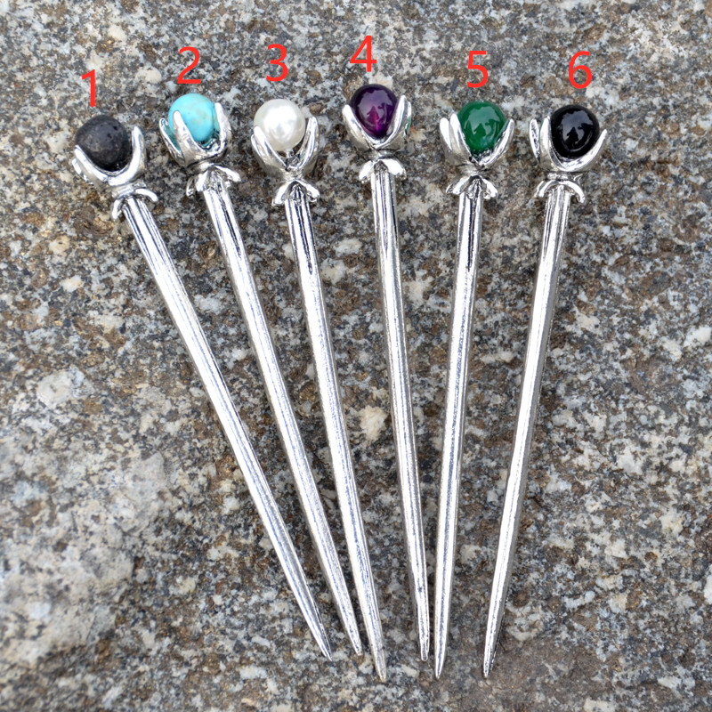 Ethnic Silver Hairpins