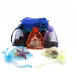 200 шт. 9x12 см органза сумка Рождество свадебный подарок сумка 23 цвет ювелирные изделия упаковка сумка для показа и мешочек пользу сумки можно