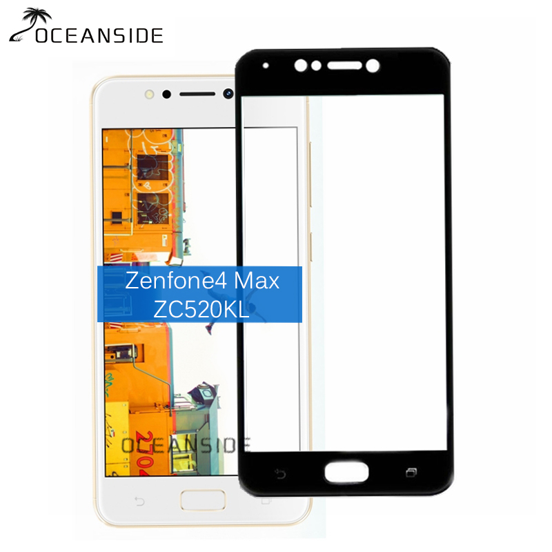 2PCS For Asus Zenfone 4 Max Zc520KL Full Cover Tempered Glass Screen Protector 9h All Body Safety Protective Film on <font><b>ZC520</b></font> <font><b>KL</b></font> image