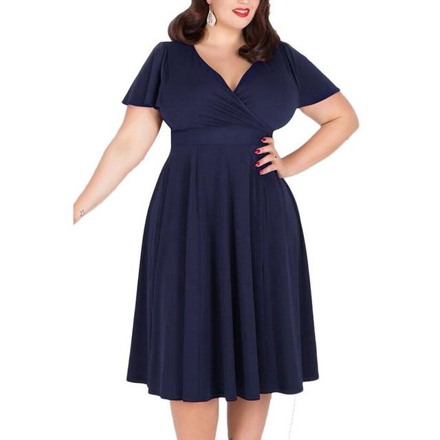 XL XXL XXXL 4XL 5XL 2017 Summer Dress Super Plus Size Women Clothing  Elegant Evening Party Long vestidos Cotton Dress 807a73e0f7f6