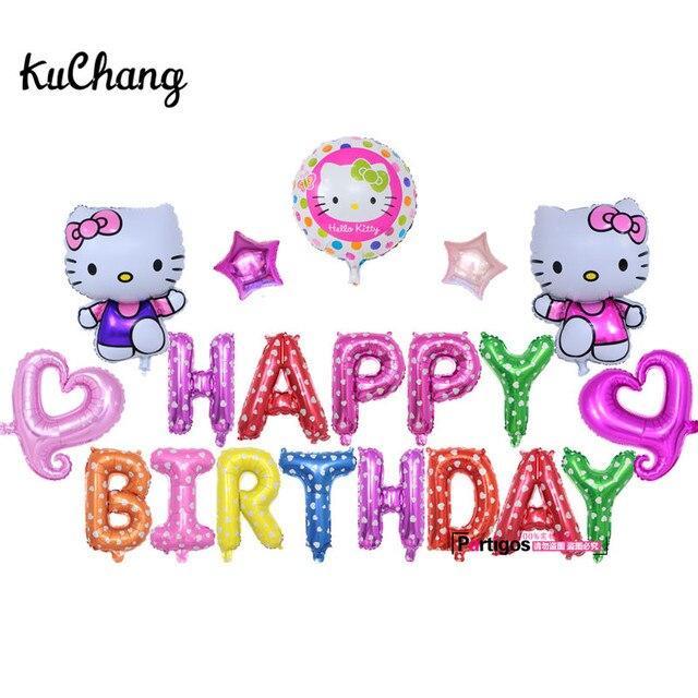 aliexpress com buy 20pcs lot hello kitty foil balloons kitty cat
