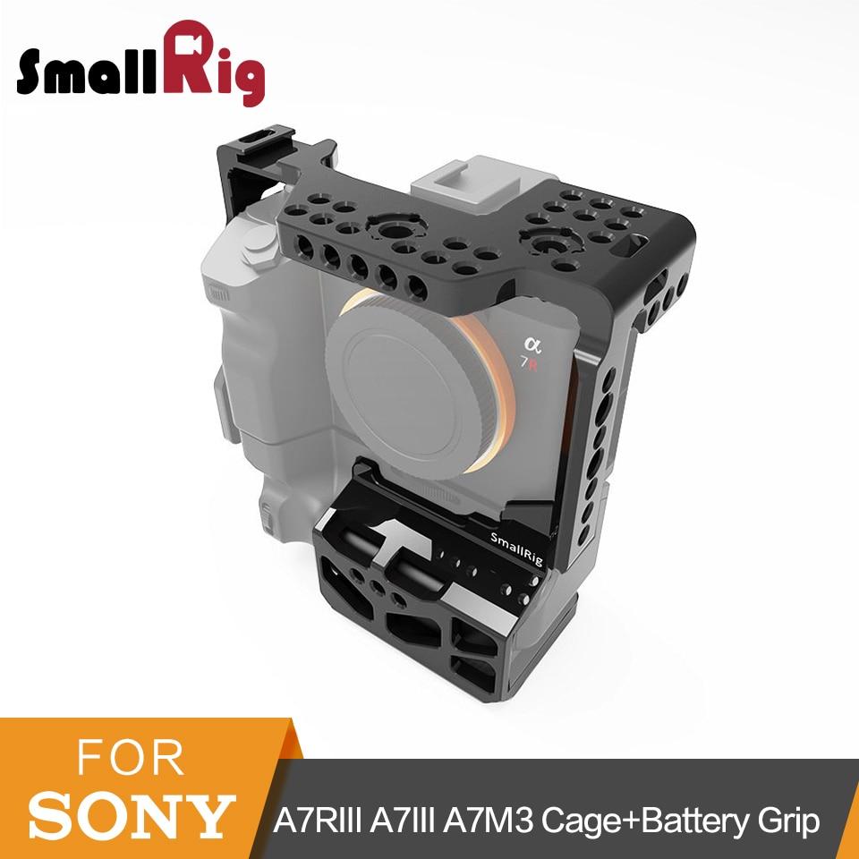 SmallRig A7RIII A7III A7M3 Protective Dslr Camera Cage for Sony A7RIII A7III A7M3 With VG C3EM Vertical Grip Battery Grip 2176