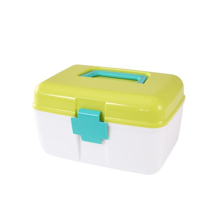 Plastic medicine box small medicine box household two-layer portable first aid kit medicine storage box health box футболка medicine medicine me024emuad32