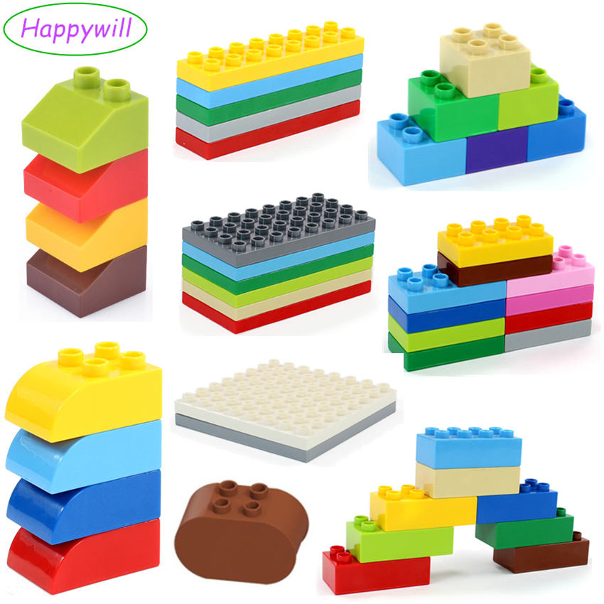 Happywill Retail Bulk Big Building Blocks Accessory 2 2 2 4 2 8 4 8 8