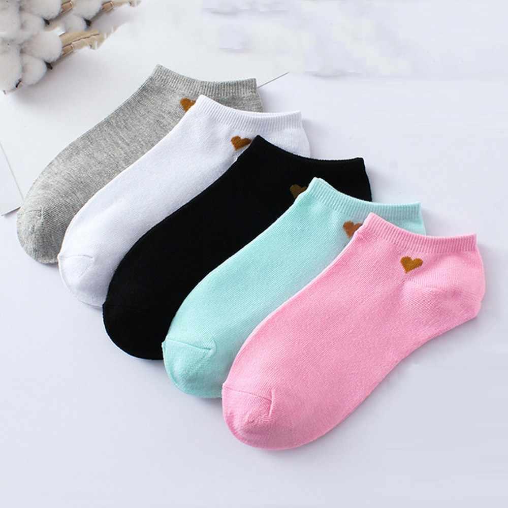 MAXIORILL Heureux Chaussettes Unisexes женские носки calcetines mujer divertido cœur Confortable Coton cheville chaussettes ensemble #4
