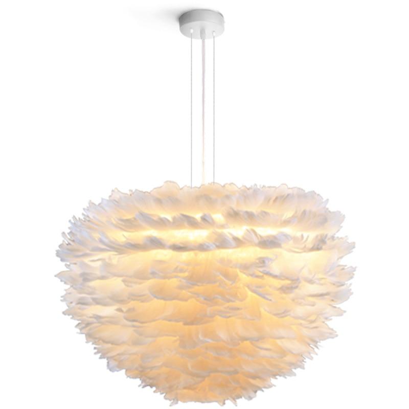 Luminaire plume Suspendu LED lampe à suspendre moderne lampe à suspendre nordique chambre à coucher luminaires suspendus en fer de mode
