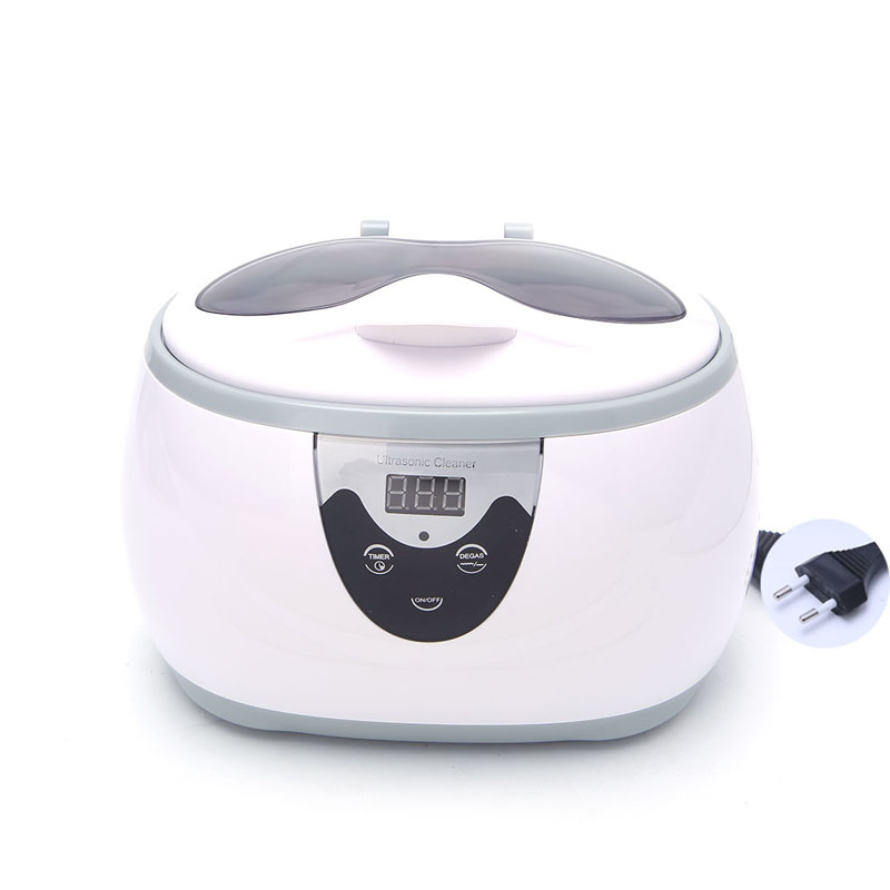 600ML Digital Ultrasonic Cleaner Washer For Jewelry Glasses CD Cleaning Machine EU US Original Package #Y05# #C05# mini ultrasonic cleaning machine digital wave cleaner 80w household glasses jewelry watch toothbrushes bath 110v 220v eu us plug