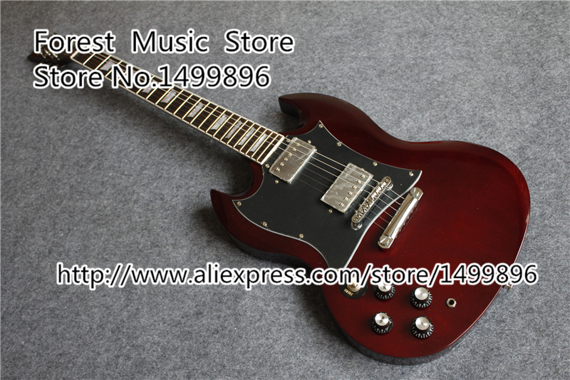 High Quality Left Handed SG Electric Guitars China OEM Chrome Hardware Guitarra For Sale high quality left