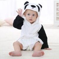 0 2 Years Cartoon Baby Bathrobe Sleepwear Summer Infant Clothes Newborn Blanket