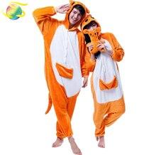 Кигуруми для взрослых КЕНГУРУ onesies Для мужчин  для женщин пижамы  фланелевые зимние теплые Kigurumi комбинезоны fd465be1d227a
