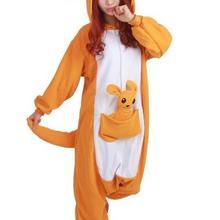 Лидер продаж прекрасный дешевые Кенгуру Kigurumi пижамы Аниме Пижама Косплэй  костюм для взрослых унисекс платье пижамы Хэллоуин ddee16ffa5ca0