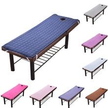 Твердый красивый стол для массажного салона, простыня, приятная для кожи, простыня для массажа, спа-процедур, покрывало для кровати с дыркой 185*70 см