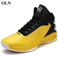 OLN Men Brand Outdoor Athletic Men Sport Shoes Basketball Shoes High quality fabric Men Sneakers Outdoor Jogging athletic shoes