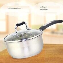 saucepan stainless steel milk pot 16cm single handle soup pot hot milk conjecturing general cookware