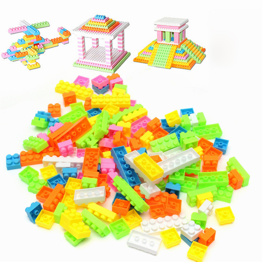 144pcs Plastic Building Blocks Toy Bricks DIY Assembling ...