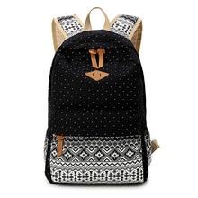 SUNBORLS Brand Korean Canvas Printing Backpack Women School Bags for Teenage Girls Cute Rucksack Vintage Laptop Backpacks Female