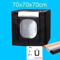 70x70x70 см LED Аксессуары для фотостудий Софтбоксы световой короб Стрельба софтбокс Портативный lightbox комплект для Костюмы Игрушечные лошадки ю