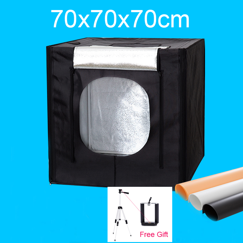 russian photo table 60 x 100cm folding portable specialty photography photo studio shooting table for on line product shooting 70x70x70CM LED Photo Studio Softbox Light Box Shooting Soft box Portable Lightbox Kit For Clothing Toys Jewelry