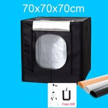 70x70x70CM LED Photo Studio Softbox Light Box Shooting Soft box Portable Lightbox Kit For Clothing Toys Jewelry цена и фото