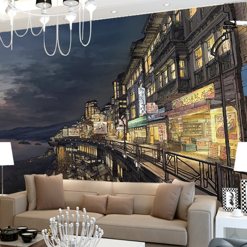 custom photo wallpaper urban landscape architecture sketch comic tv background wallpaper children room mural in wallpapers from home improvement on