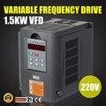 Инвертор с переменной частотой VFD 2HP 1.5KW 7A 220-250V